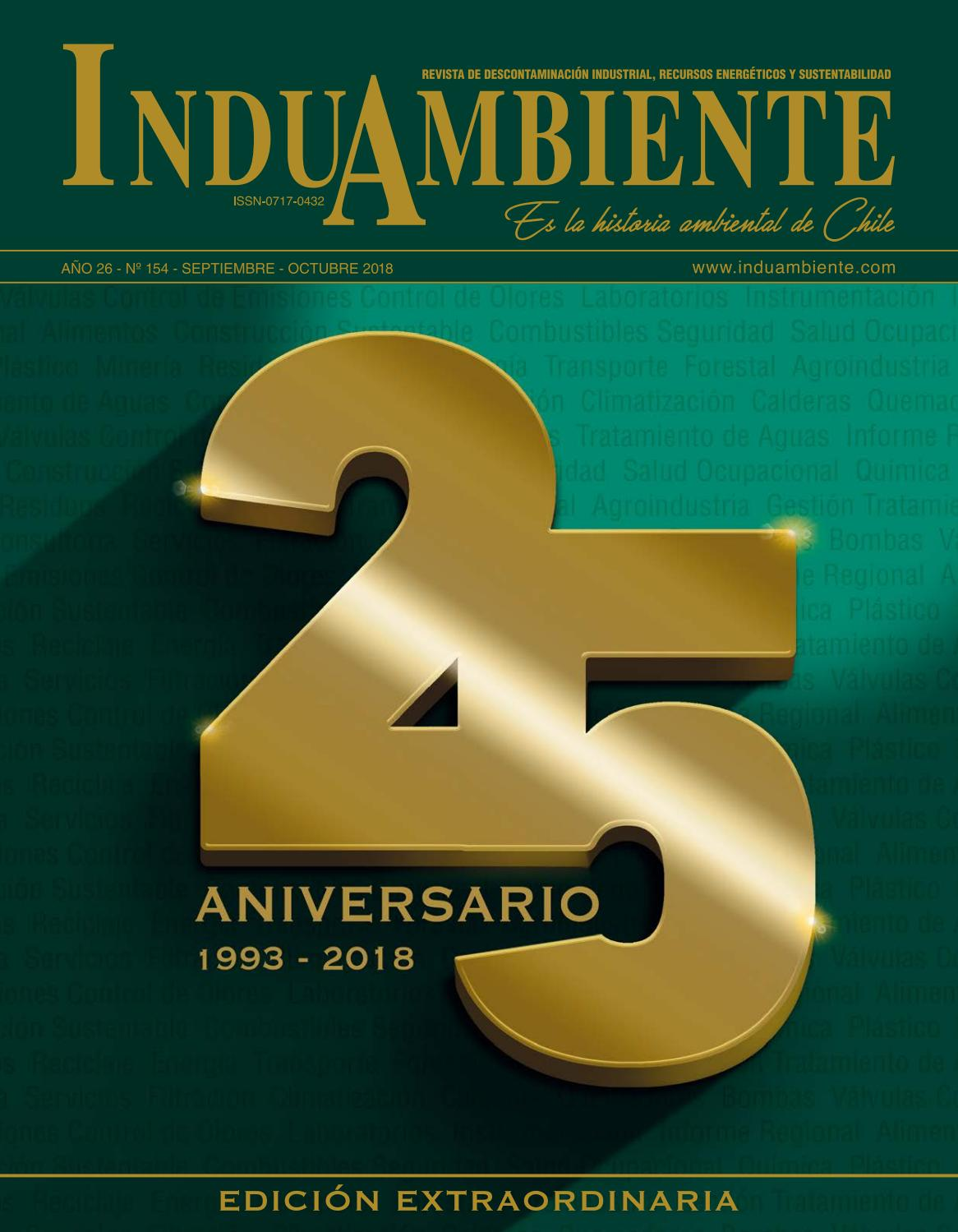 REVISTA INDUAMBIENTE Ed. N°154 / Sept-Oct 2018 by Revista InduAmbiente -  issuu