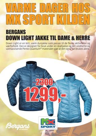9c607cce Page 1. VARME DAGER HOS. MX SPORT KILDEN BERGANS. DOWN LIGHT JAKKE TIL DAME  ...