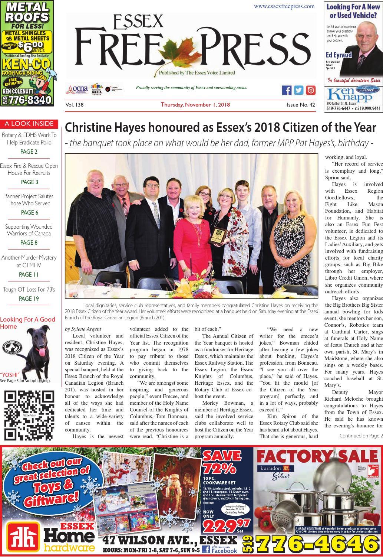 Essex Free Press - November 1 d01a292a5d