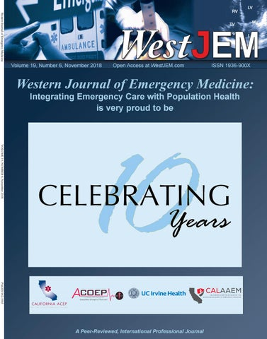 Volume 19 Issue 6 by Western Journal of Emergency Medicine