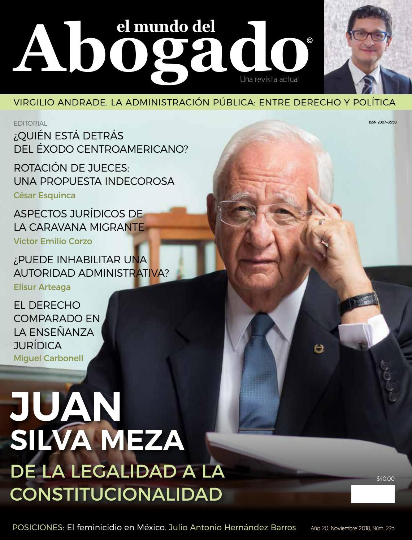 3c9c39fa3e767 Edición  235 – Noviembre 2018 by El Mundo del Abogado - issuu