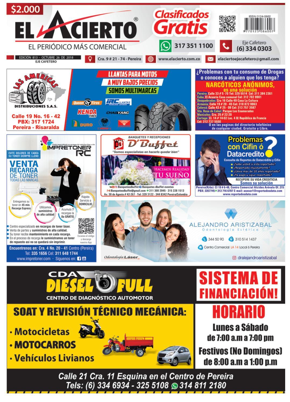 e416c0ef85127 Pereira 813 - 26 de Octubre 2018 by El Acierto - issuu