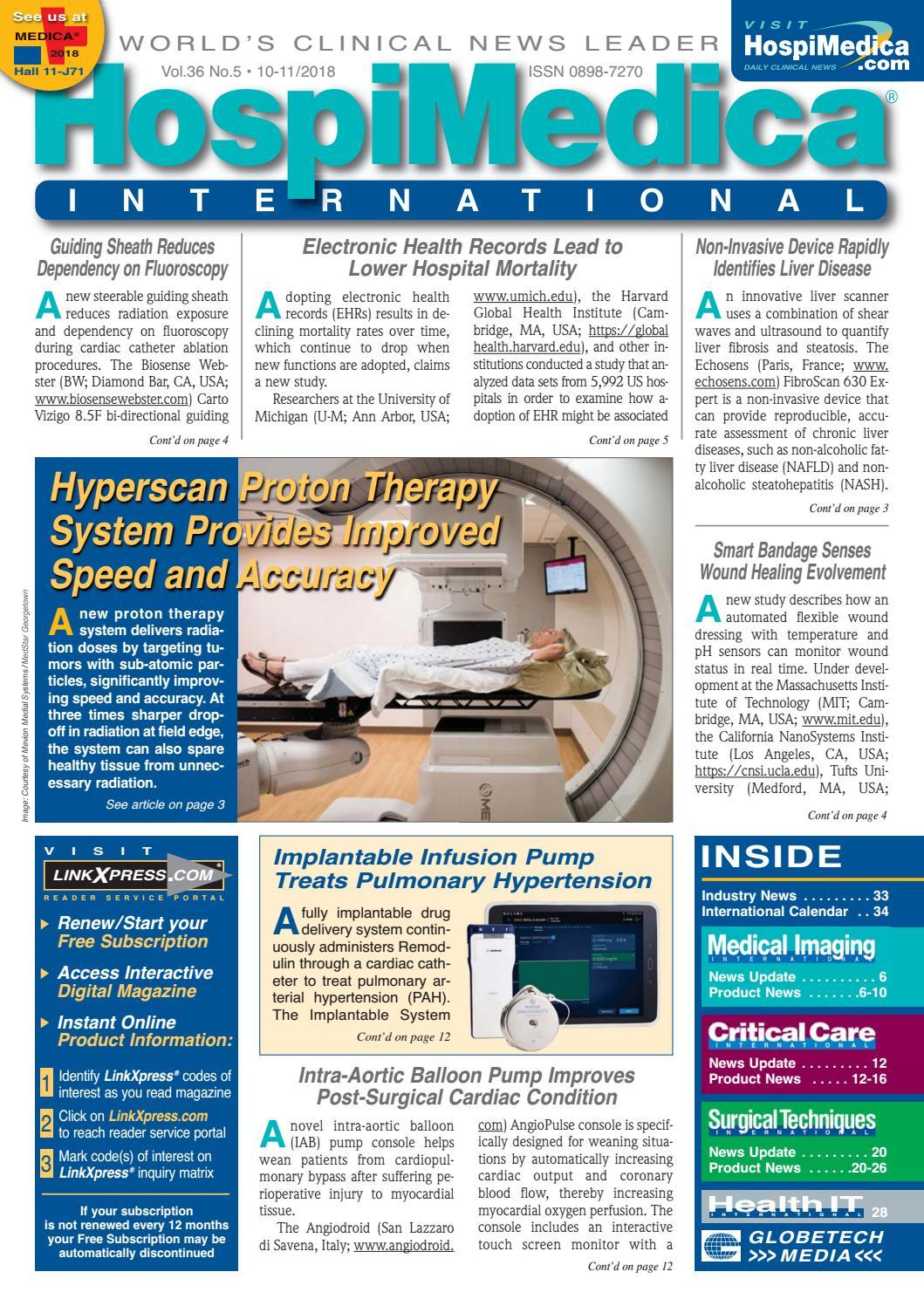 HospiMedica International November 2018 by Globetech - issuu