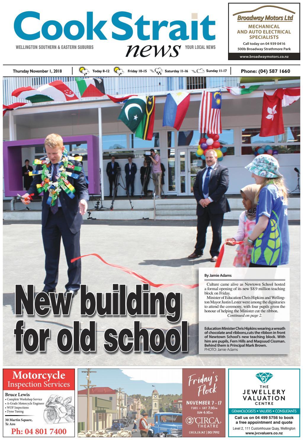Cook Strait News 01-11-18