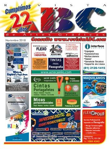 f53ceaed88d8 Revista ABC de Artes México Gráficas Noviembre 2018. by REVISTA ABC ...