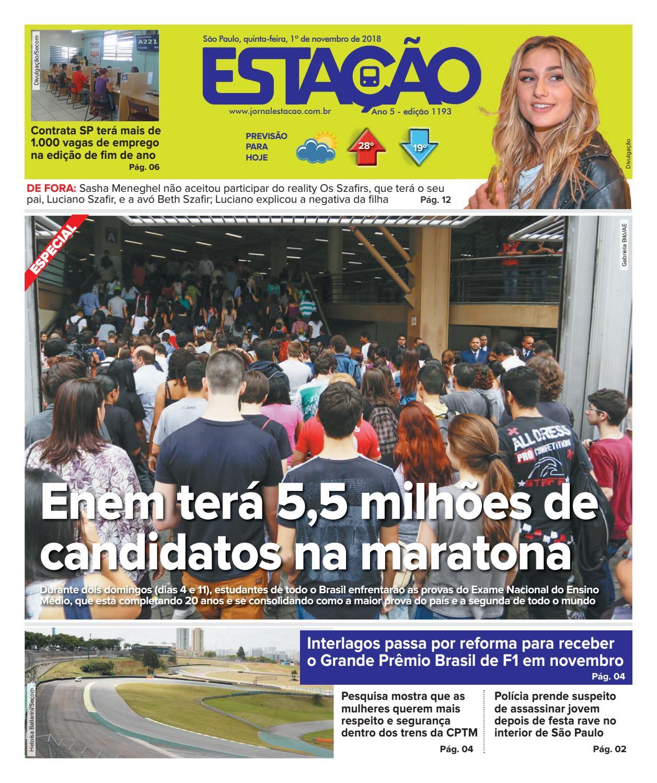 3819d3bf3 Jornal Estação de 1º/11/2018 - Ed. 1193 by Jornal Estação - issuu