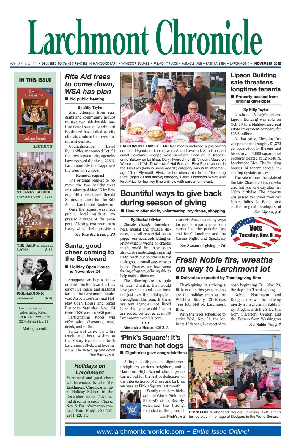 LC 11 2018 by Larchmont Chronicle - issuu