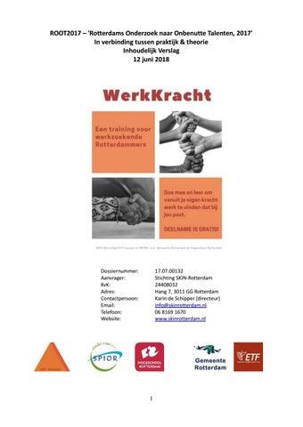 Root2017 Rotterdams Onderzoek Naar Onbenutte Talenten