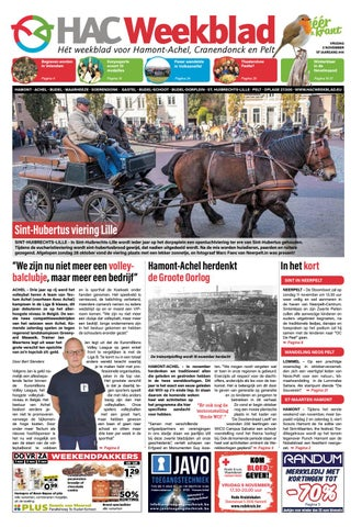 6bc3be15e54 HAC Weekblad week 44 2018 BE by HAC Weekblad - issuu