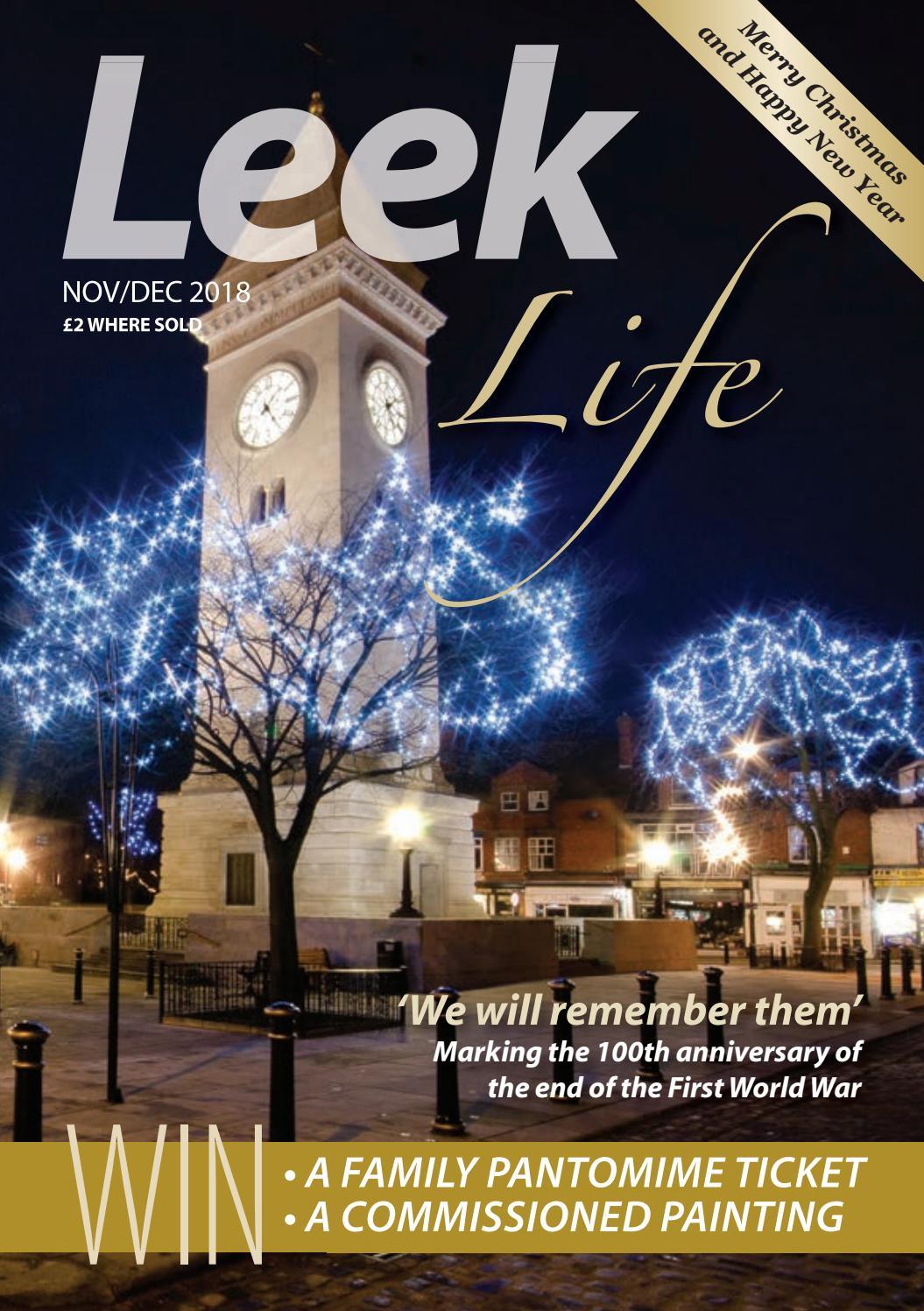 Leek Life Nov Dec 2018 By Times Echo And Life Issuu