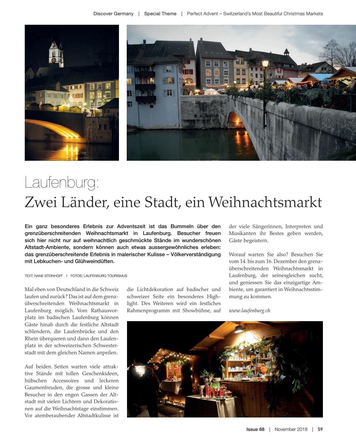 Weihnachtsmarkt Laufenburg.Discover Germany Issue 68 November 2018 By Scan Group Issuu