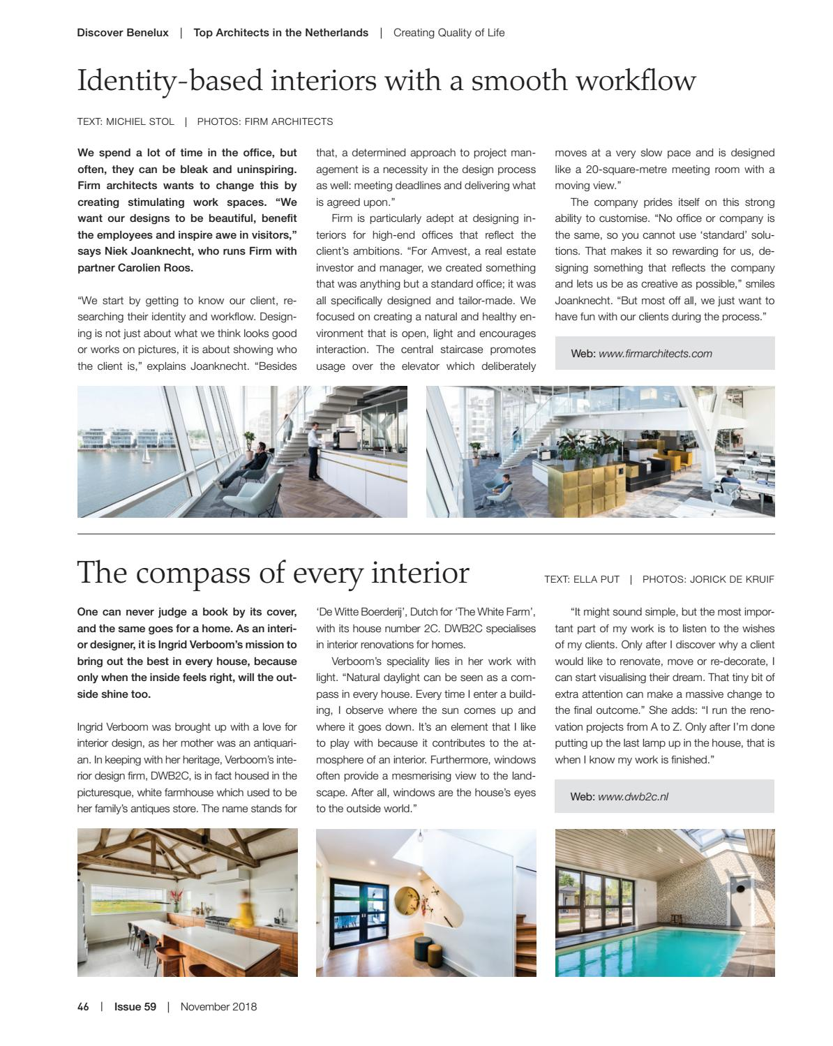 Discover Benelux, Issue 59, November 2018 by Scan Group , issuu
