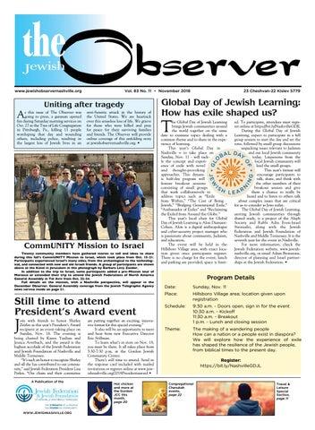The Observer Vol 83 No 11 November 2018 By Jewish Observer Issuu
