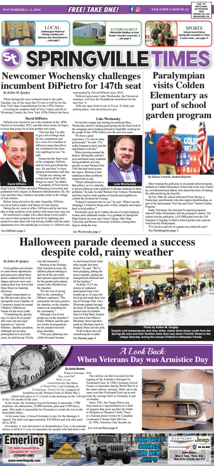 11-02-18 Springville Times by Ellicottville Times - issuu