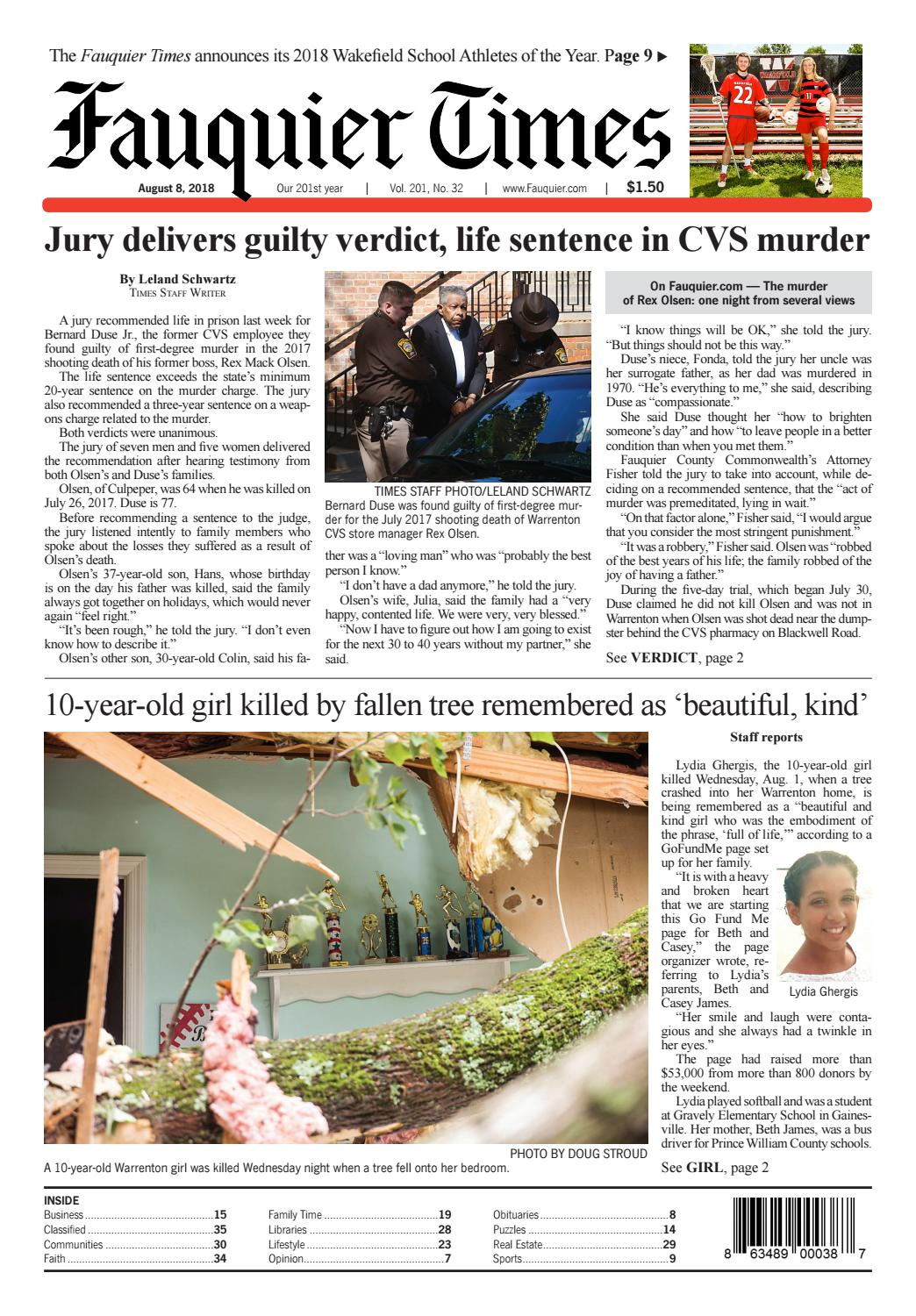 Fauquier Times August 8, 2018 by Fauquier Times - issuu