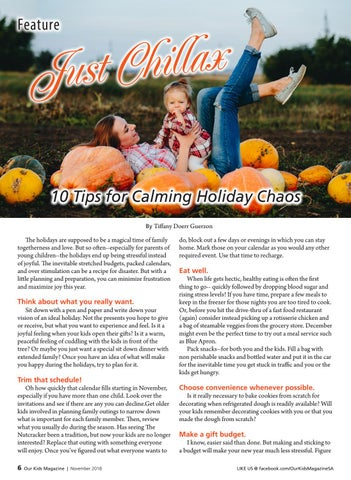 Page 6 of Just Chillax! 10 Tips for Calming Holiday Chaos
