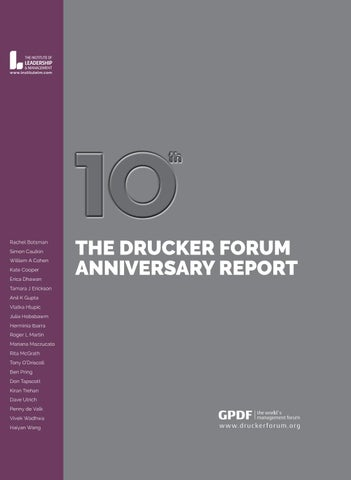Drucker Forum Anniversary Report 2018 By Dialogue Issuu
