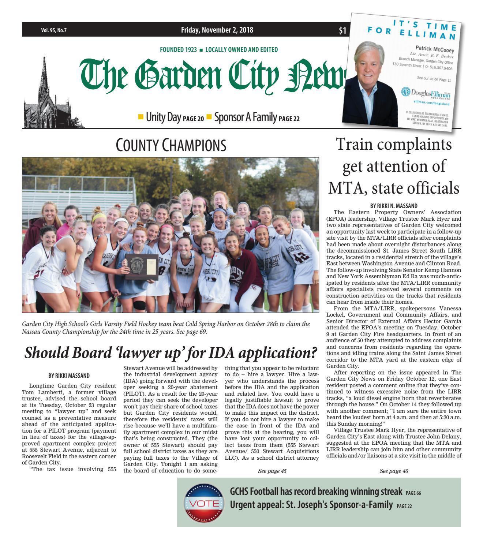 The Garden City News (11/2/18) by Litmor Publishing - issuu
