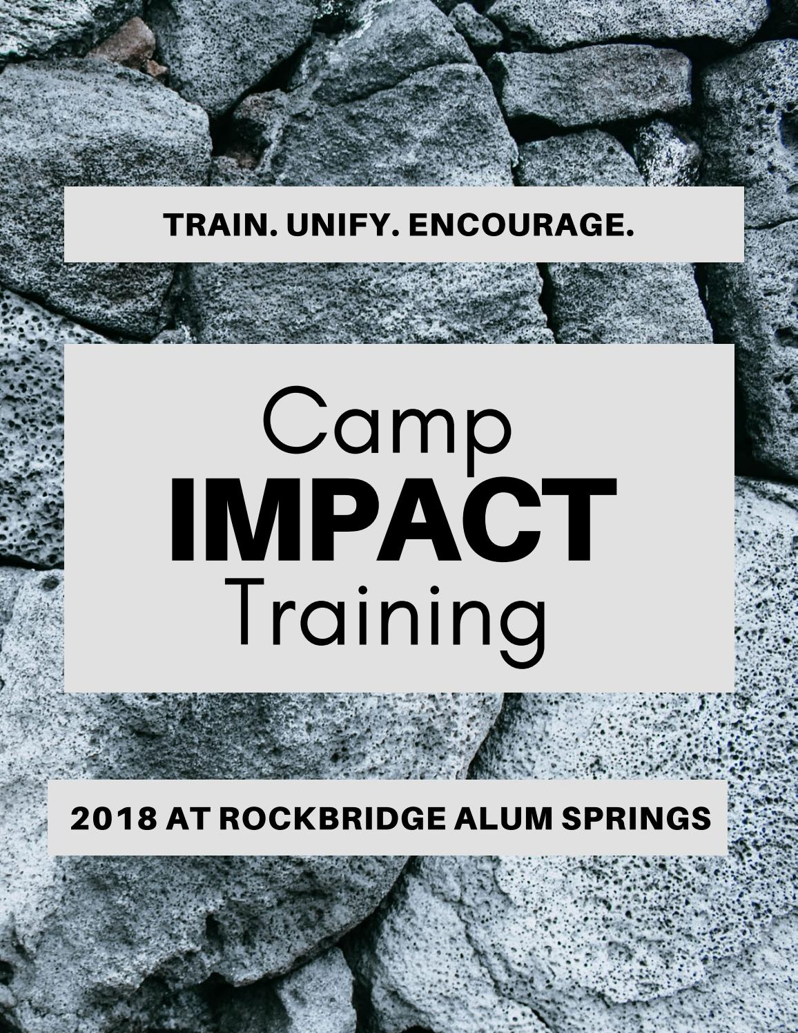 Impact Training - Rockbridge Alum Springs - 2018 by Young