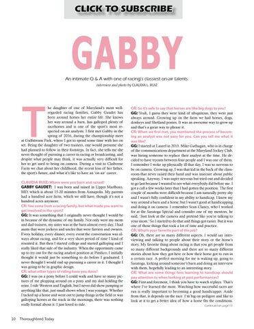Page 10 of Q&A: Gabby Gaudet