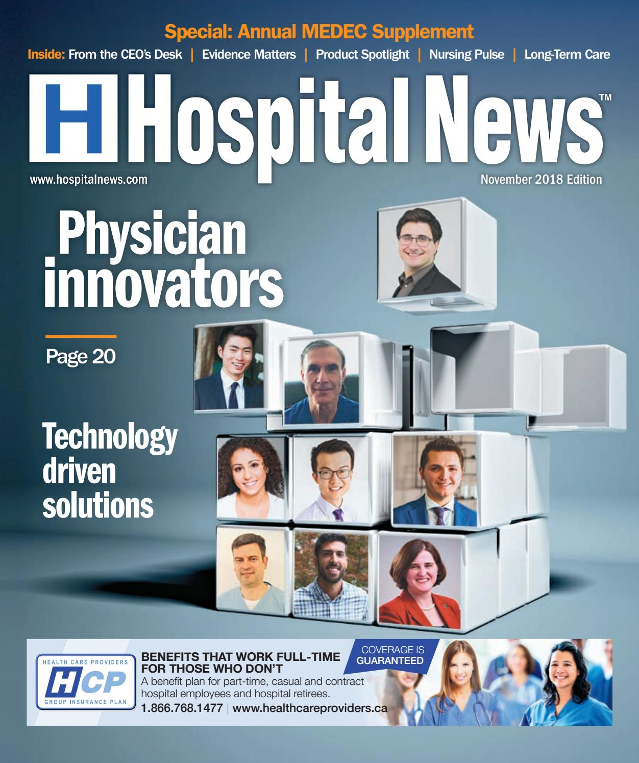Hospital News November 2018 By Issuu Paul Browne Two Ideas For Future Technology Integration In Stem