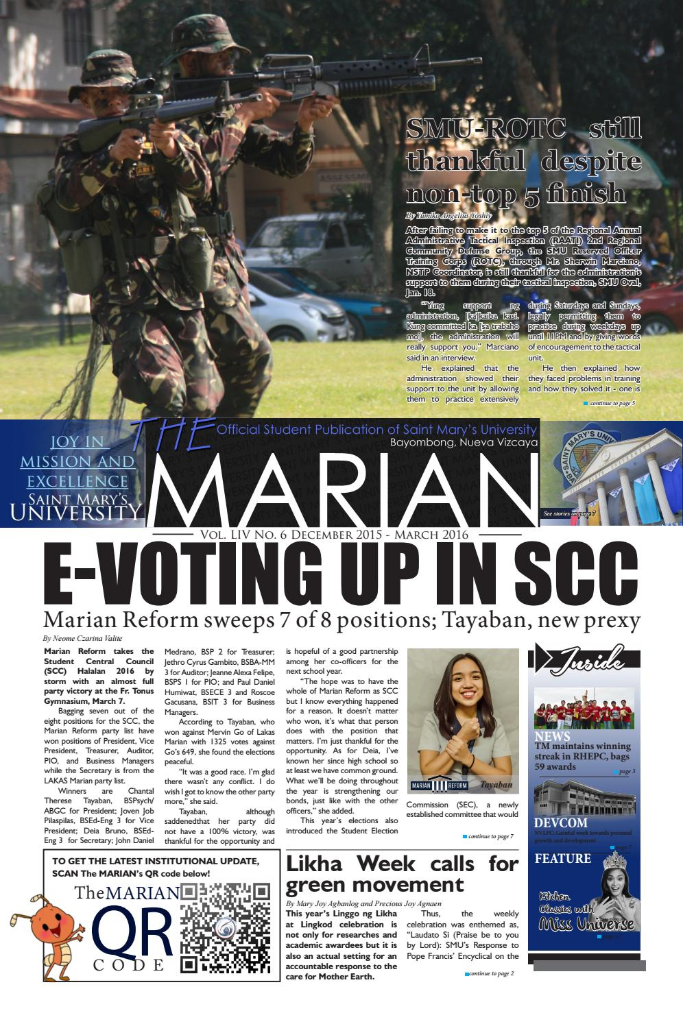The MARIAN Tabloid December 2015 - March 2016 by Emman Jose