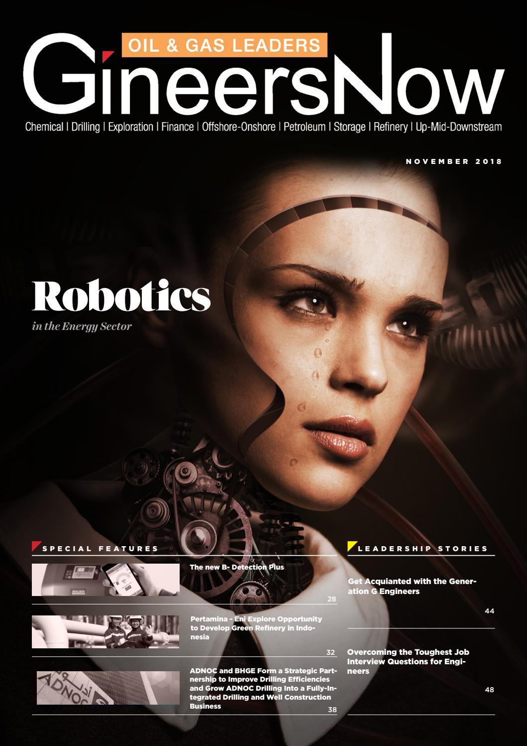 Oil & Gas Leaders magazine: Robotics in Energy, Petroleum