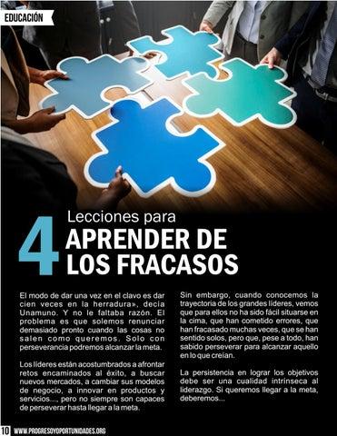Page 10 of Lecciones para aprender de los fracasos por Estrella Flores-Carretero