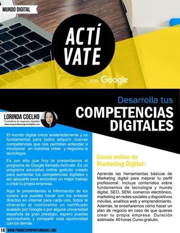 Page 14 of Desarrolla tus competencias digitales por Lorinda Coelho