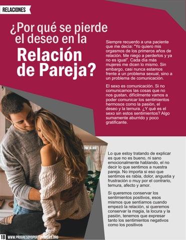 Page 18 of ¿Por qué se pierde el deseo en una relación de pareja? Dra Nancy Álvarez