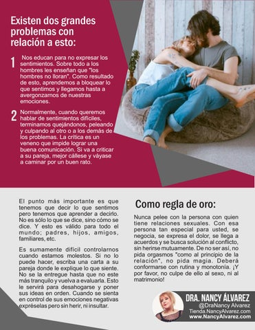 Page 19 of ¿Por qué se pierde el deseo en una relación de pareja? Dra Nancy Álvarez