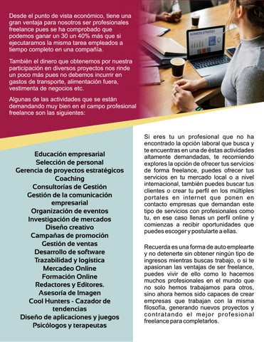 Page 31 of Conviértete en un profesional Freelance por Lorinda Coelho