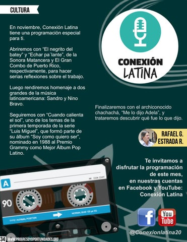 Page 34 of Conexión Latina por Rafael G. Estrada R