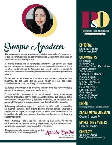 Page 3 of Editorial Noviembre 2018 por Lorinda Coelho