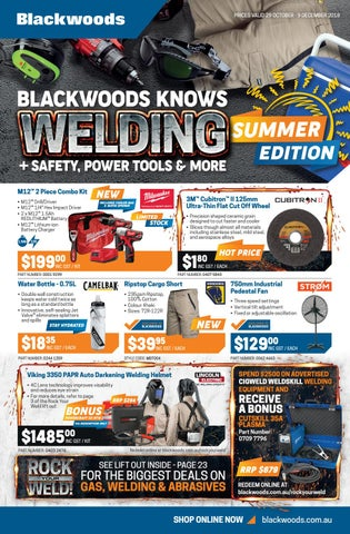 Blackwoods Knows Welding + Safety, Power Tools & More! by
