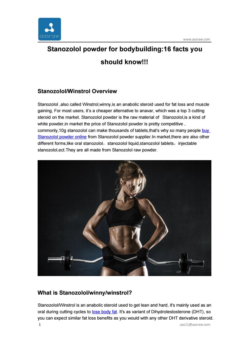 Stanozolol powder for bodybuilding:16 facts you should know