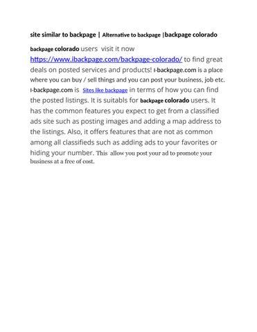 Backpage com colorado www Backpage
