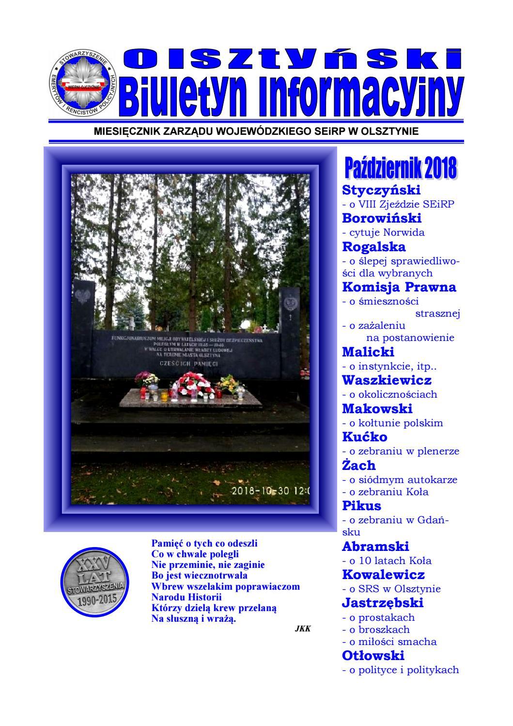 Olsztyński Biuletyn Informacyjny Zw Seirp Nr 102 By