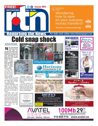 f52783088d6b7 RTN Newspaper - Costa Blanca North November 2-8 2018 Issue 991 by ...