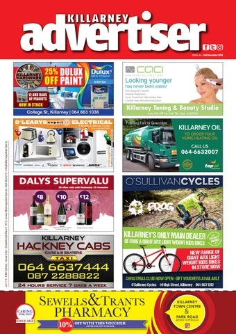 Killarney Advertiser November 2nd 2018 By Killarney Advertiser Issuu