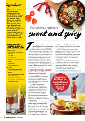 Page 12 of Give diners a splash of sweet and spicy
