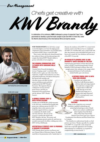 Page 30 of Chefs get creative with KWV Brandy