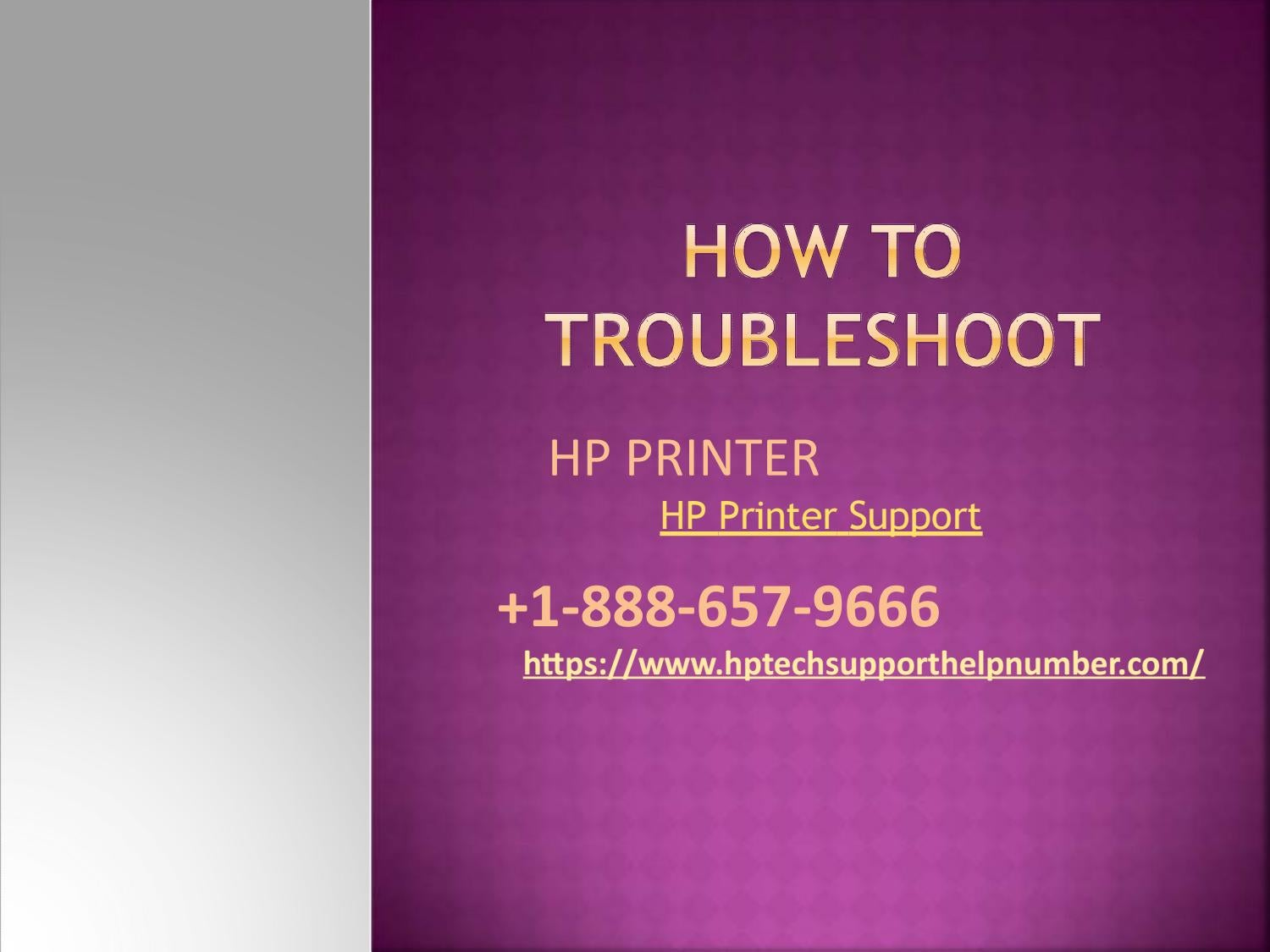how to troubleshoot hp printer