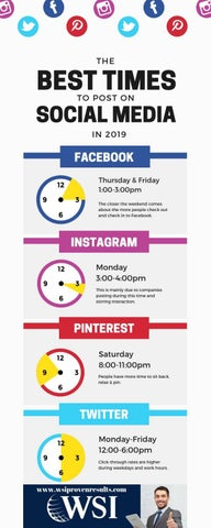 Best Times To Post On Social Media 2019 The Best Times to post on Social Media in 2019 by