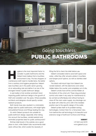 Page 15 of Going Touchless: Public Bathrooms