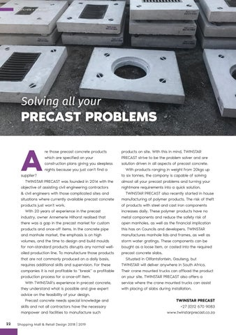 Page 22 of Solving All Your Precast Problems
