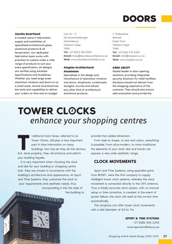 Page 27 of Tower Clocks Enhance Your Shopping Centres