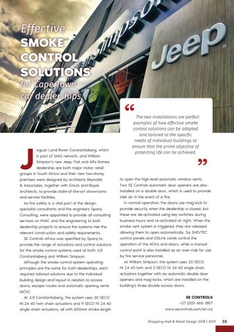 Page 35 of Effective Smoke Control Solutions for Cape Town Car Dealership