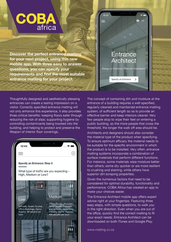 Page 39 of Entrance Architect App by COBA Africa