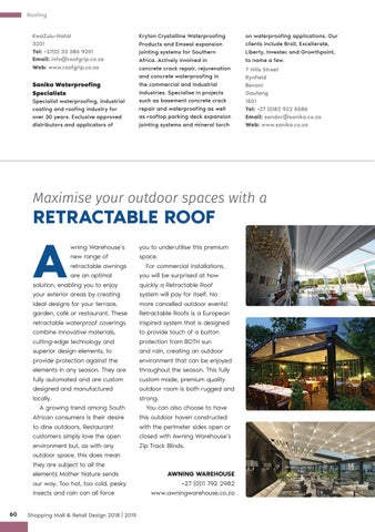 Page 60 of Maximise Your Outdoor Spaces With a Retractable Roof